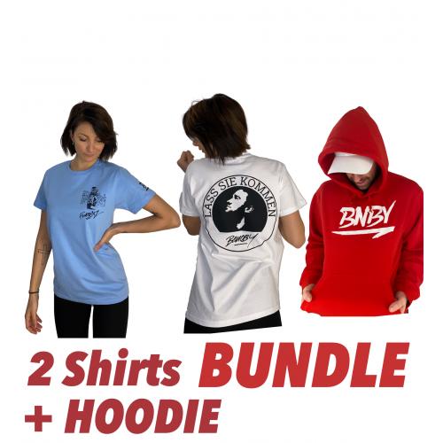 BUNDLE: 2x Shirt + 1x HOODY